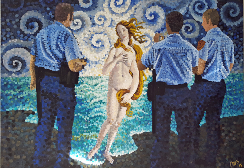 Venus and the Men in Blue